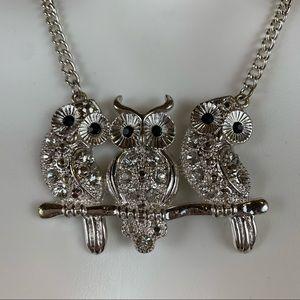 3 FOR $20  Rhinestone Owl Necklace